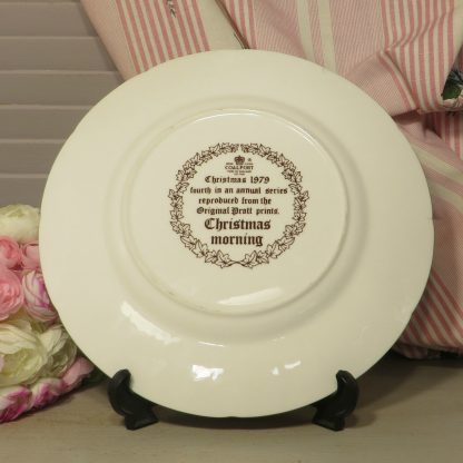 """this plate is entitled """"Christmas morning"""" and is the fourth in the series reproduced from the Original Pratt prints"""