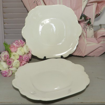 Aynsley Bread and Butter/Cake/Sandwich Plate. A plain white plate with scalloped edges for your afternoon tea sandwiches or cakes