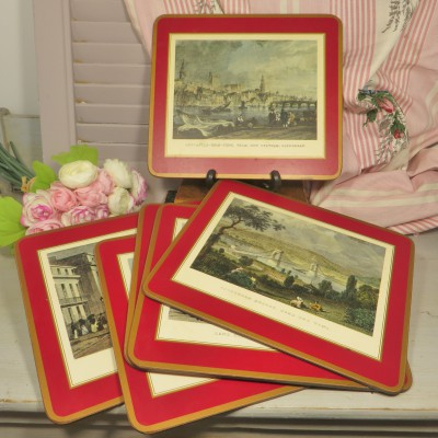 Boxed Set of 6 Pimpernel Place Mats Depicting Scenes from Newcastle Upon Tyne. A lovely set of place mats with scenes of old Newcastle and surrounding areas