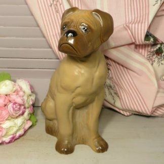 Large China Boxer Dog Statuette.  Such a cute china Boxer dog