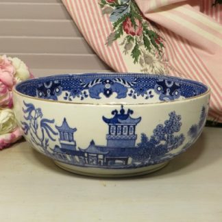 Burleigh Ware Willow Pattern Bowl.  A beautiful early bowl with gilded rim