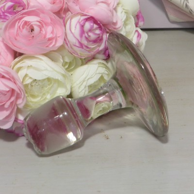 Hand Made Glass Stopper for Norman Cidre Decanter. A flat topped stopper for the traditional Normandy cidre decanter