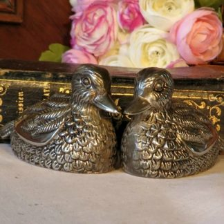 Metal Duck Cruet Set.  A cute pair of metal ducks from around the 1970s to add a touch of fun to your dinner table
