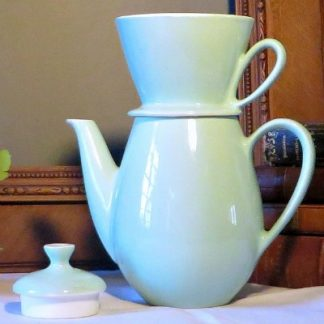 Pale green vintage Villeroy and Boch Coffee Filter Pot.  A useful and practical coffee pot for brewing filter coffee without any fuss or mess