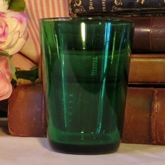 Green French Glass Tumbler.  A pretty French glass tumbler for display or use
