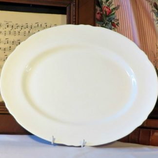 Large White 19th Century Platter.  Lovely large platter for your dining table or for display on your wall or dresser