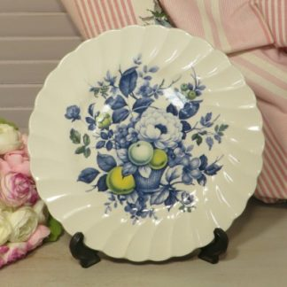 Myott 'Claremont' Side Plate. A lovely side plate decorated with fruit and flowers.