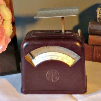 Vintage French Bakelite Postal Scales. A lovely pair of postal scales
