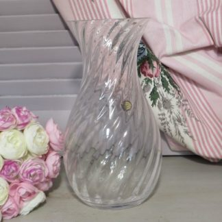 Dartington Glass Ripple 'Roman' Vase. A lovely lead crystal vase designed by Frank Thrower with a pretty ripple design.