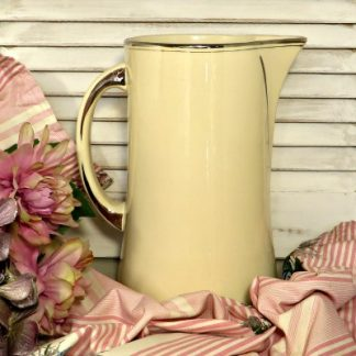 1930s French Toilette Jug Ewer Vase. Made by Moulin des Loupes and originally part of a set that would have included a basin and soap dish