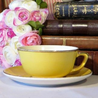 Villeroy & Boch Yellow Coffee Duo Cup and Saucer. A lovely bright yellow cup and saucer to brighten your day