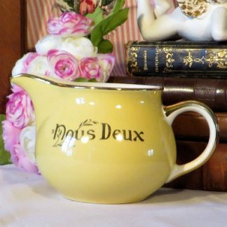 Yellow Villeroy & Boch 'Nous Deux' Milk Cream Jug.  A lovely bright yellow jug 'Nous Deux' (Us Two) to brighten your day.  Originally part of a set which would have comprised of the jug and two cups and saucers (one 'Moi' (Me) cup and one 'Toi' (You) cup).