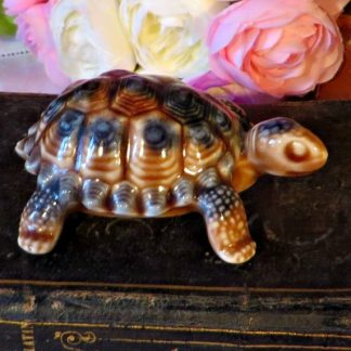 Blue Wade Porcelain Tortoise. Made in England this Tortoise is the 'Daddy' from the family of Tortoise made by Wade.