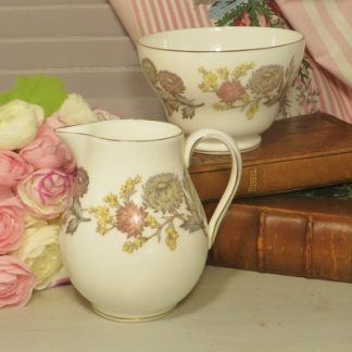 Wedgewood Litchfield Milk Jug and Sugar Bowl.  A lovely milk jug/creamer with matching sugar bowl in the Litchfield pattern.  A lovely set for your afternoon tea or breakfast table